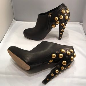Gucci 39.5 babouska studded booties black leather